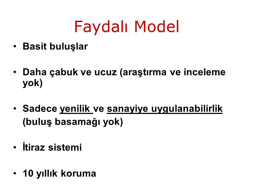 Faydalı Model Basit buluşlar