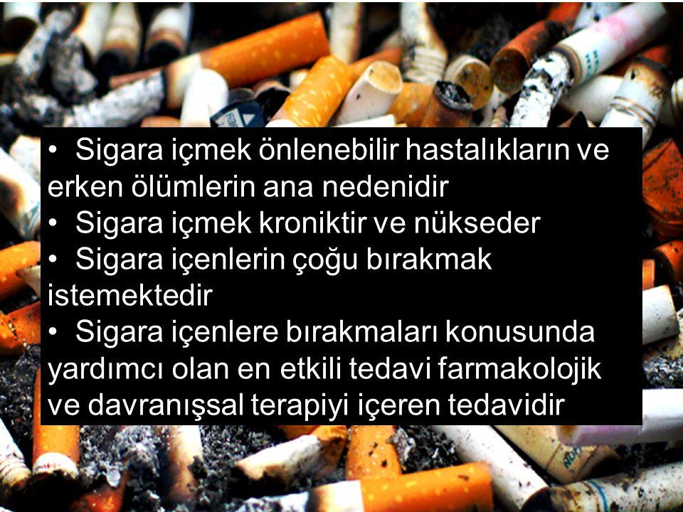 Sigara içmek önlenebilir hastalıkların ve erken ölümlerin ana nedenidir