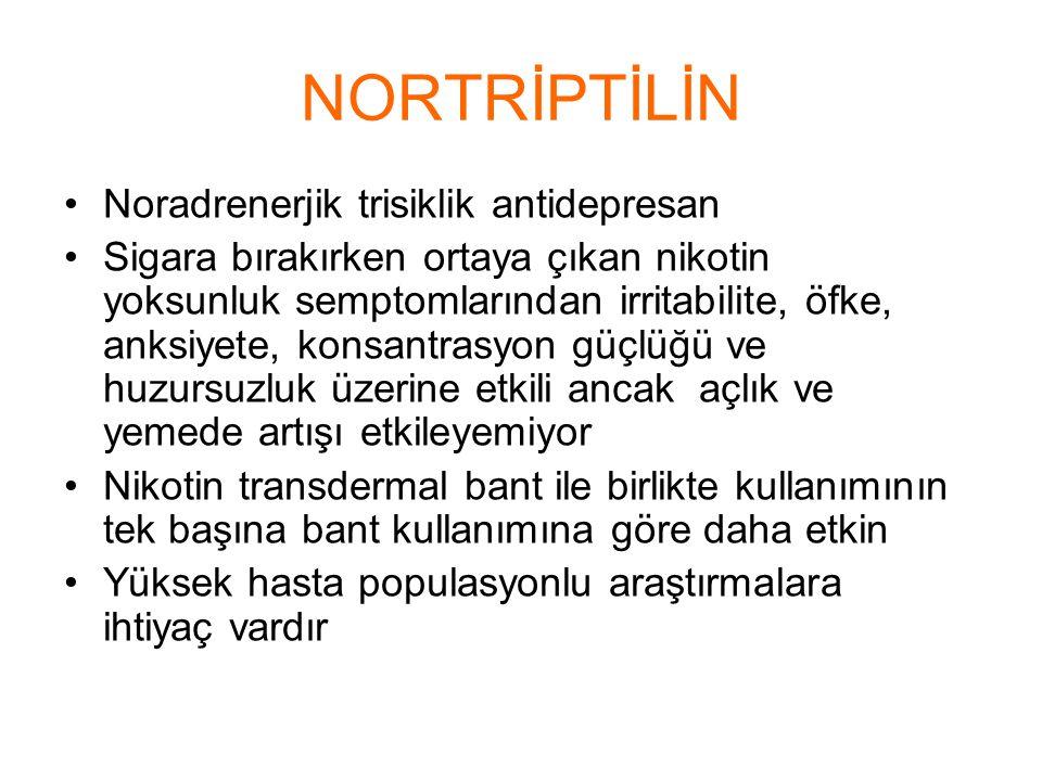NORTRİPTİLİN Noradrenerjik trisiklik antidepresan