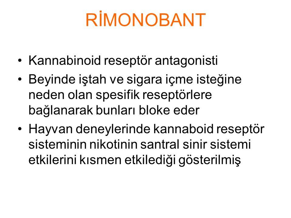 RİMONOBANT Kannabinoid reseptör antagonisti