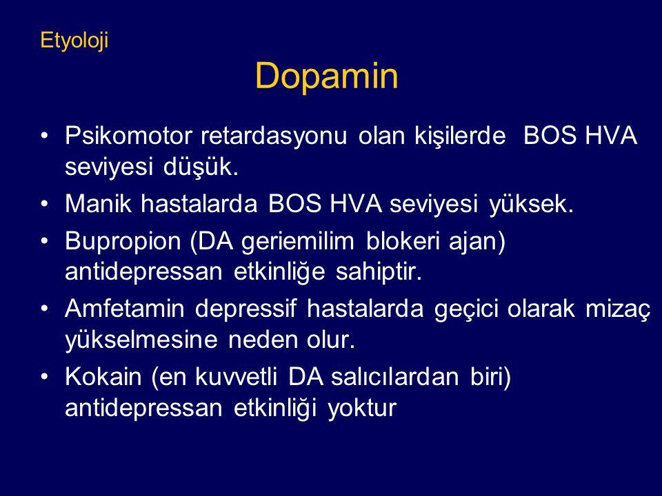 Psikomotor retardasyonu olan kişilerde BOS HVA seviyesi düşük.