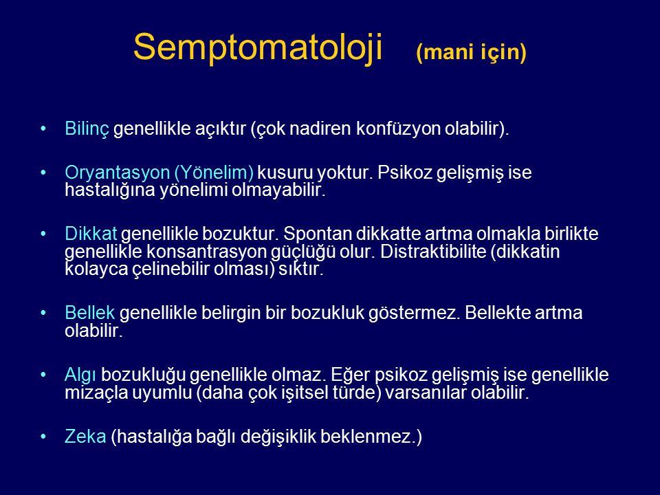 Semptomatoloji (mani için)