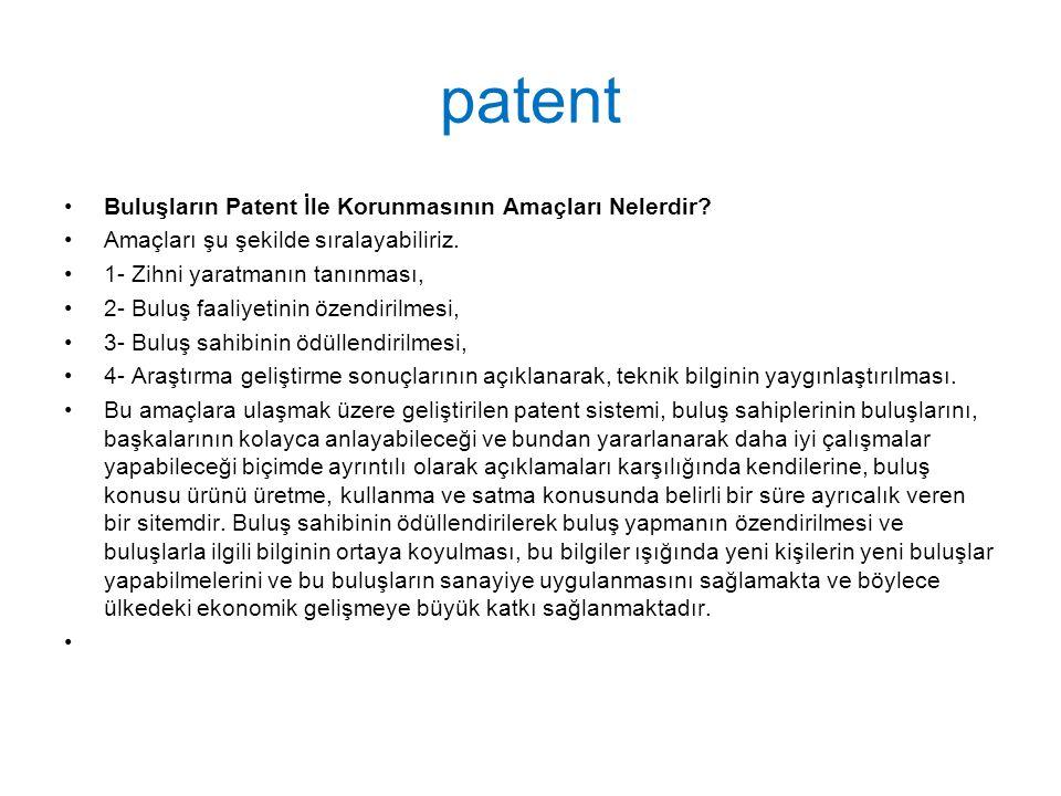 patent Buluşların Patent İle Korunmasının Amaçları Nelerdir