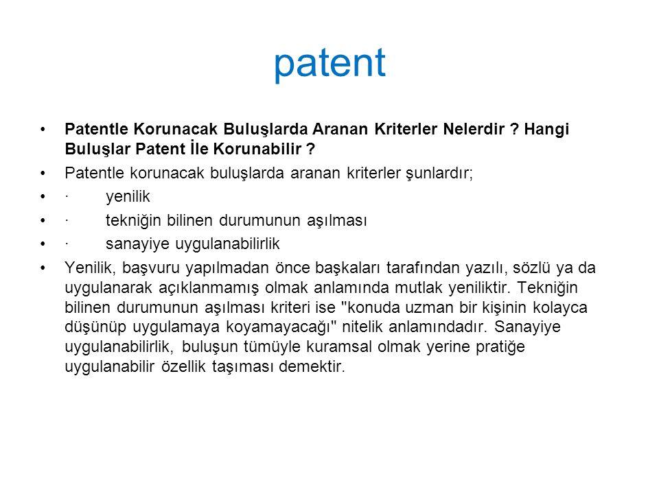 patent Patentle Korunacak Buluşlarda Aranan Kriterler Nelerdir Hangi Buluşlar Patent İle Korunabilir