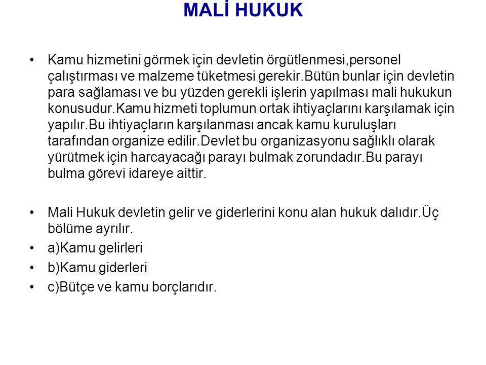 MALİ HUKUK