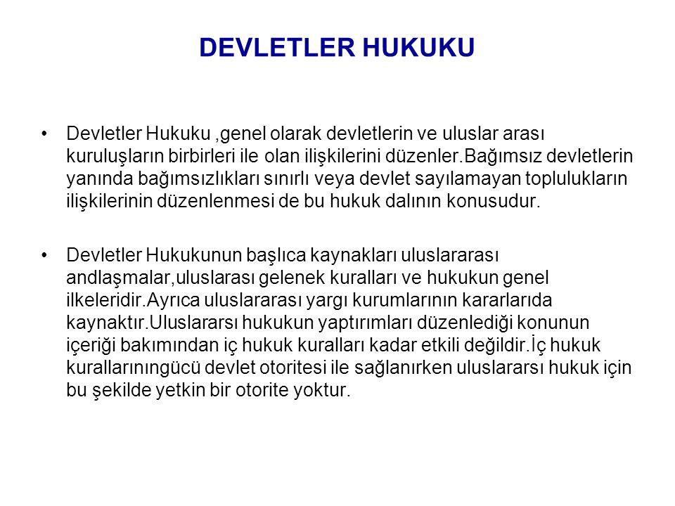 DEVLETLER HUKUKU