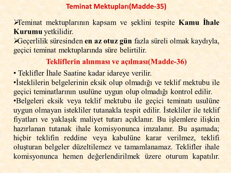 Teminat Mektupları(Madde-35)