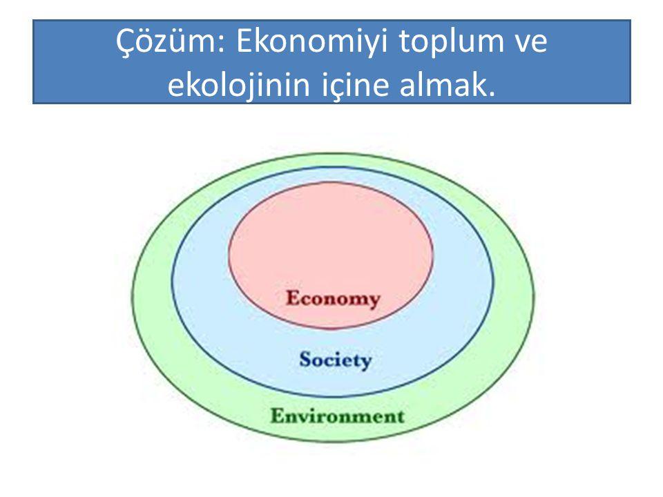 Çözüm: Ekonomiyi toplum ve ekolojinin içine almak.