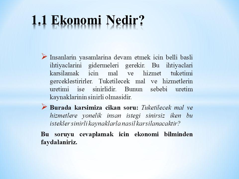 1.1 Ekonomi Nedir