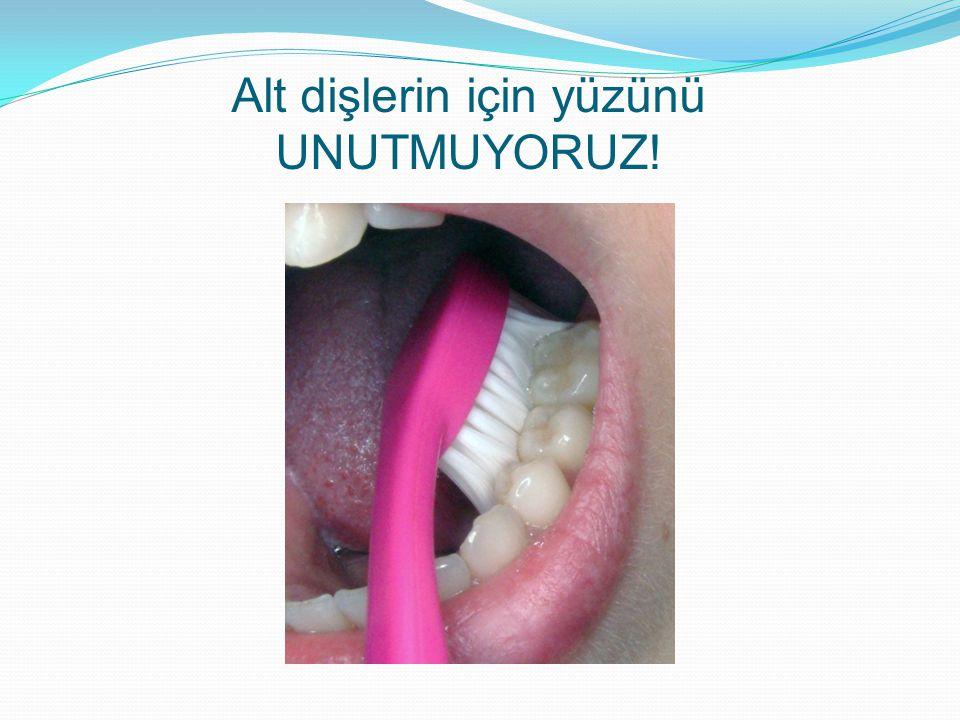 Alt dişlerin için yüzünü UNUTMUYORUZ!