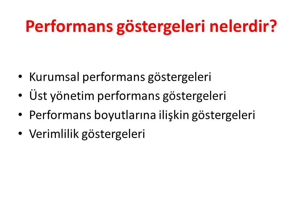 Performans göstergeleri nelerdir