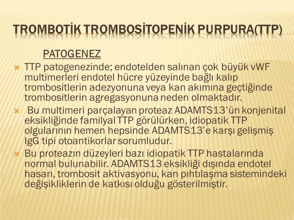 Trombotİk Trombosİtopenİk Purpura(ttp)