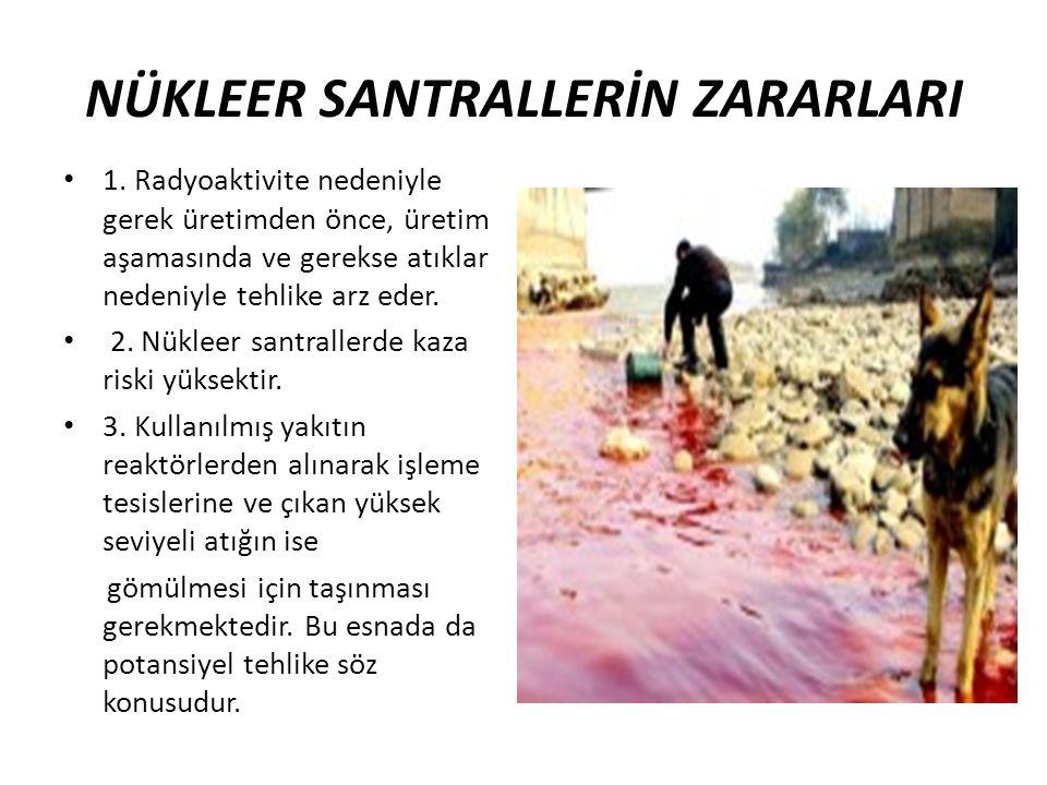 NÜKLEER SANTRALLERİN ZARARLARI
