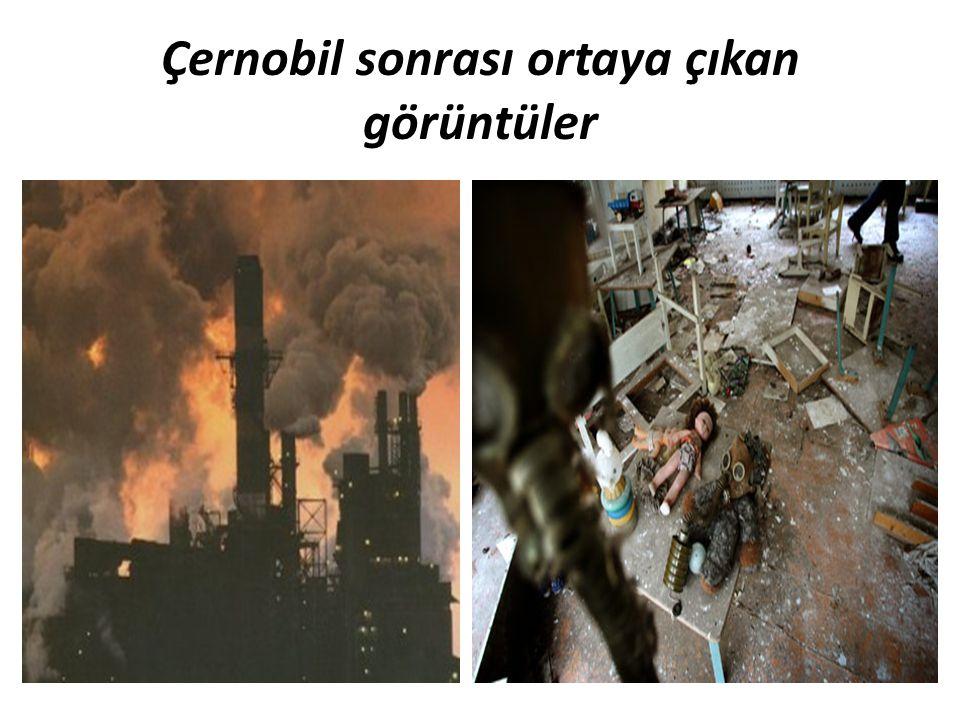 Çernobil sonrası ortaya çıkan görüntüler