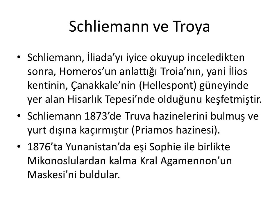 Schliemann ve Troya