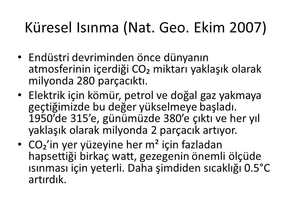 Küresel Isınma (Nat. Geo. Ekim 2007)
