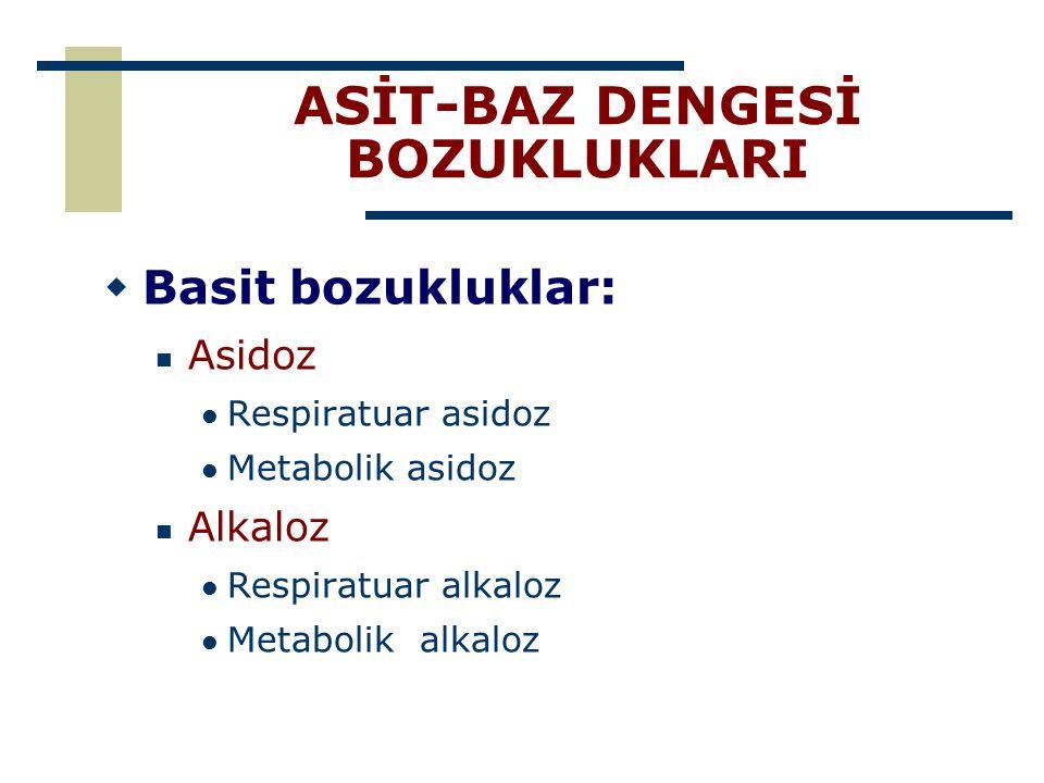 ASİT-BAZ DENGESİ BOZUKLUKLARI
