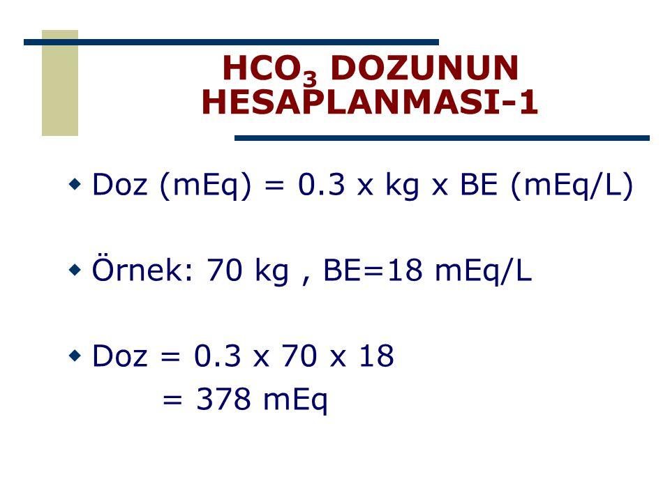 HCO3 DOZUNUN HESAPLANMASI-1
