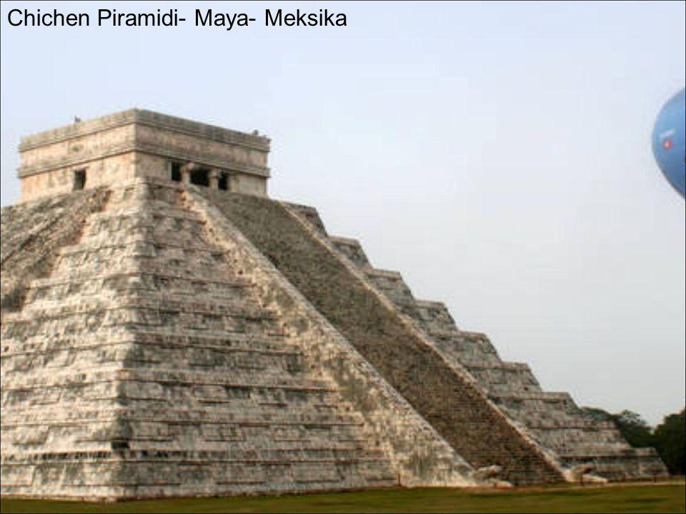 Chichen Piramidi- Maya- Meksika