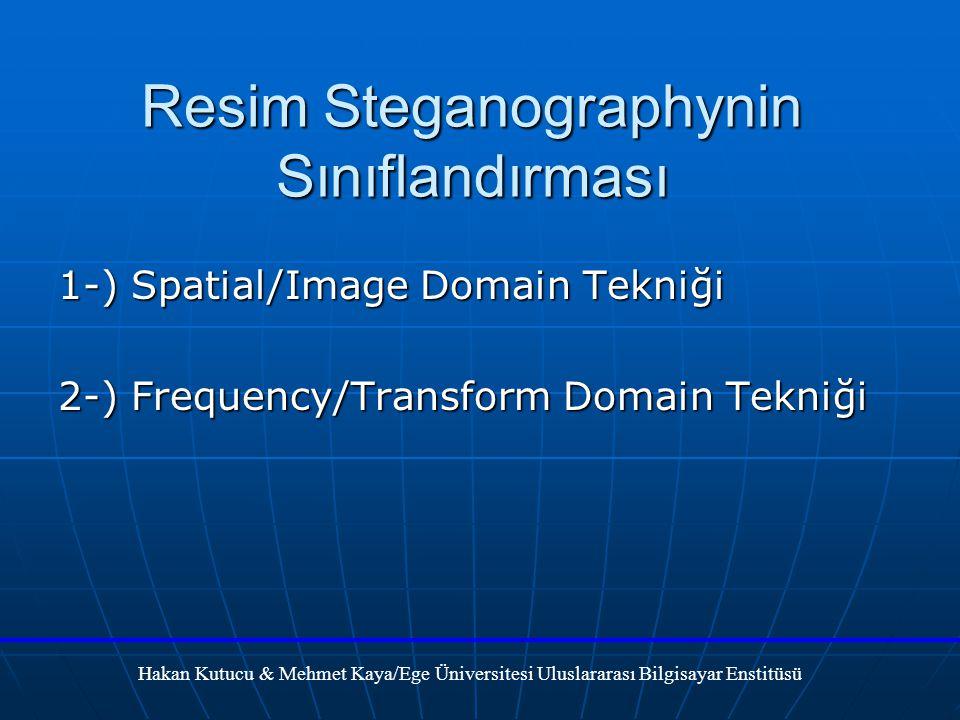 Resim Steganographynin Sınıflandırması