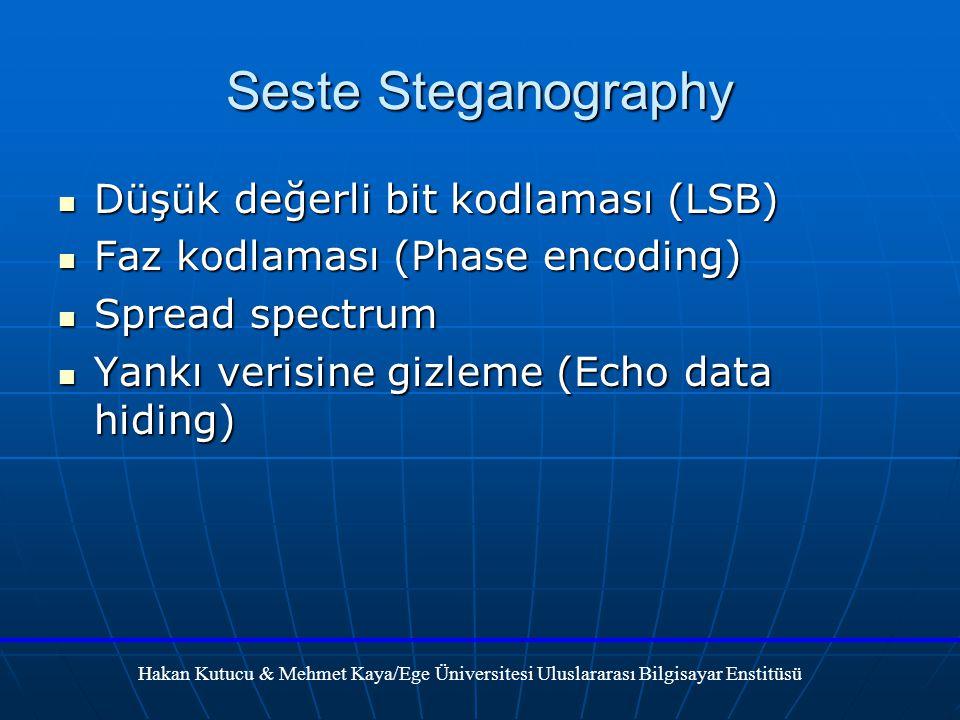 Seste Steganography Düşük değerli bit kodlaması (LSB)