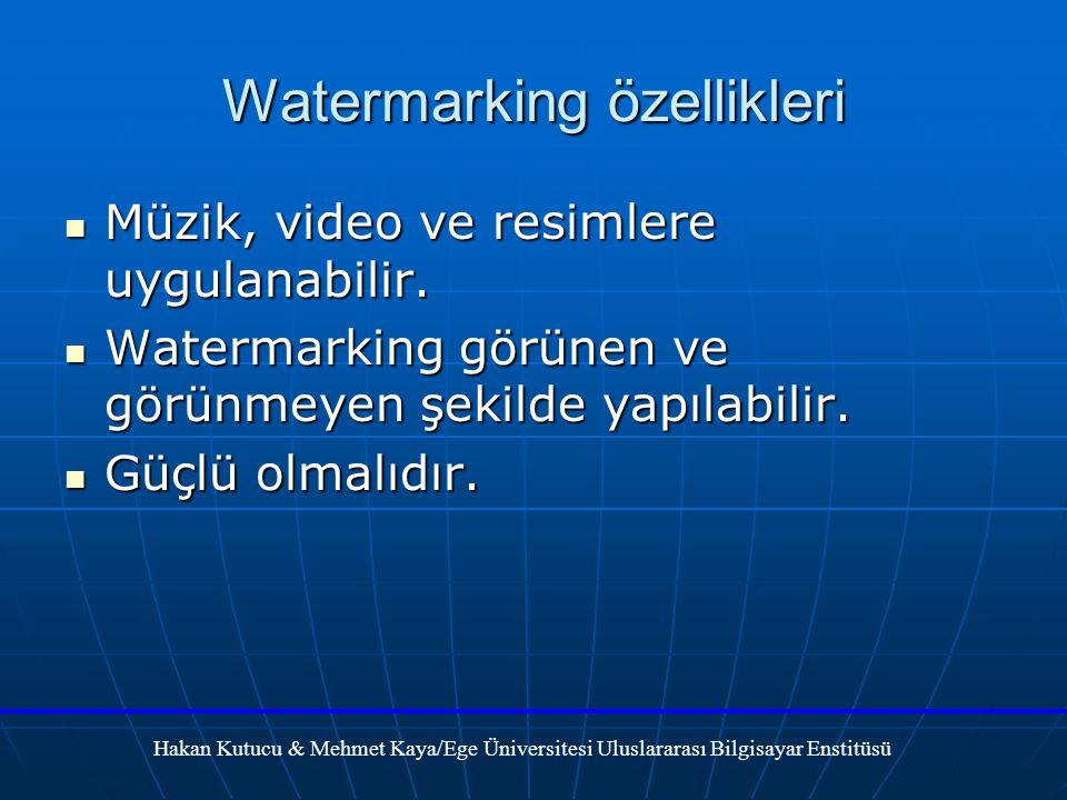 Watermarking özellikleri