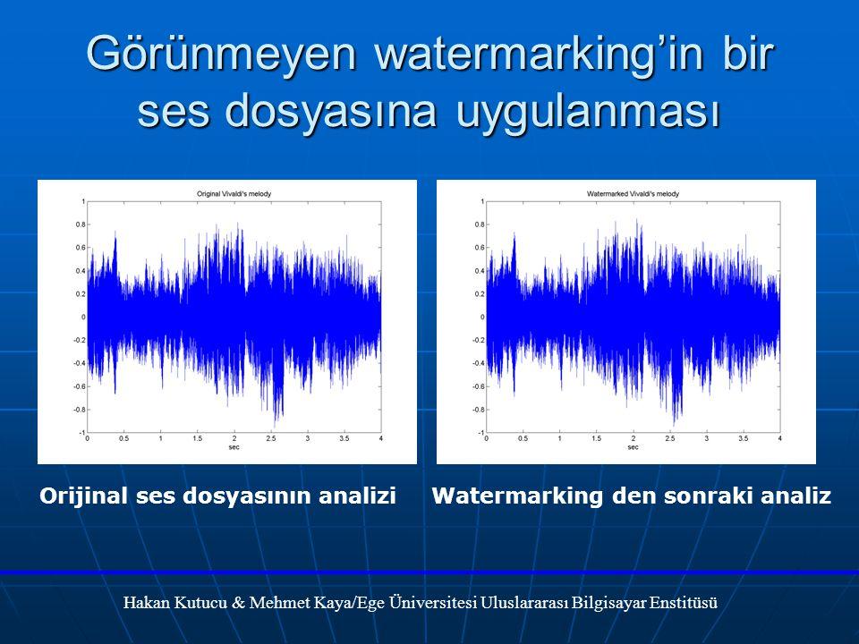 Görünmeyen watermarking'in bir ses dosyasına uygulanması