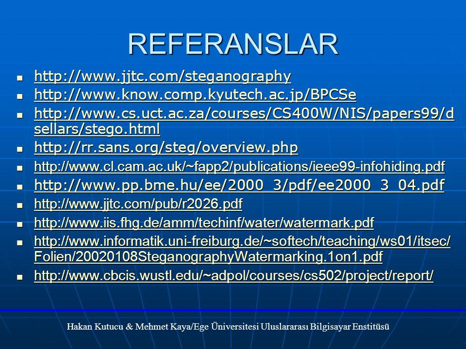 REFERANSLAR http://www.jjtc.com/steganography