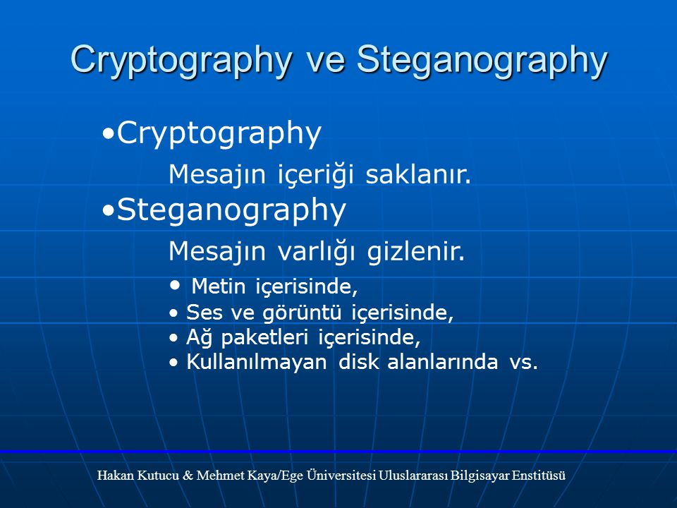 Cryptography ve Steganography