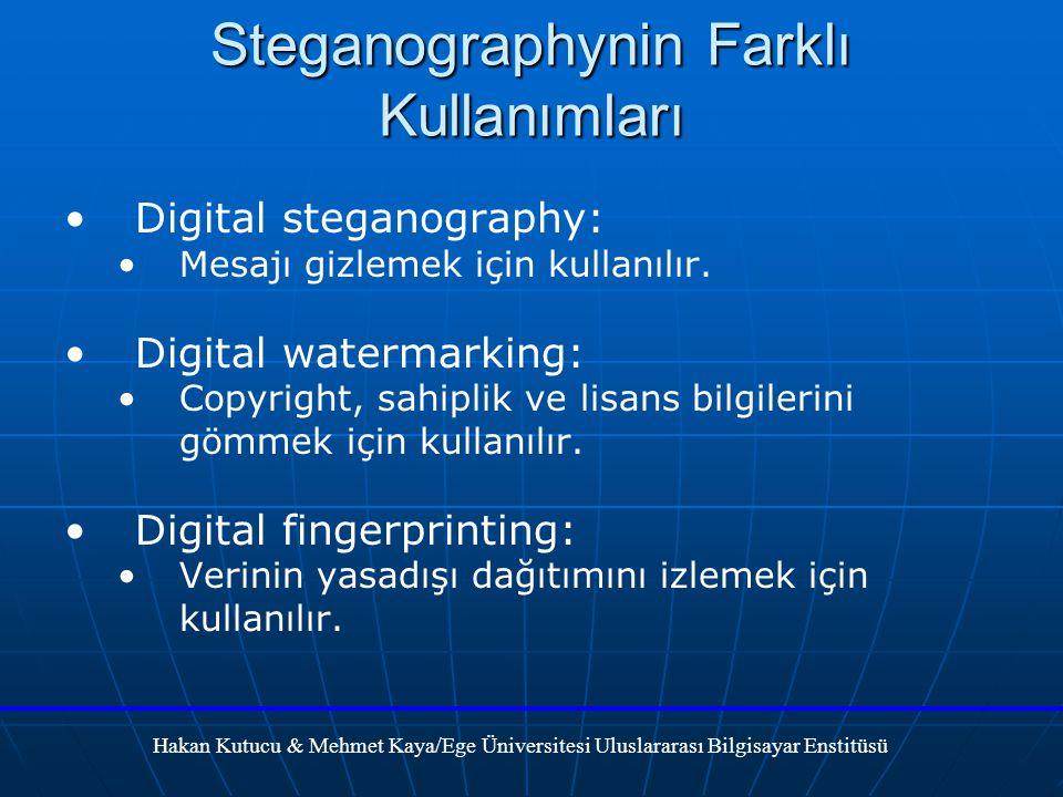 Steganographynin Farklı Kullanımları