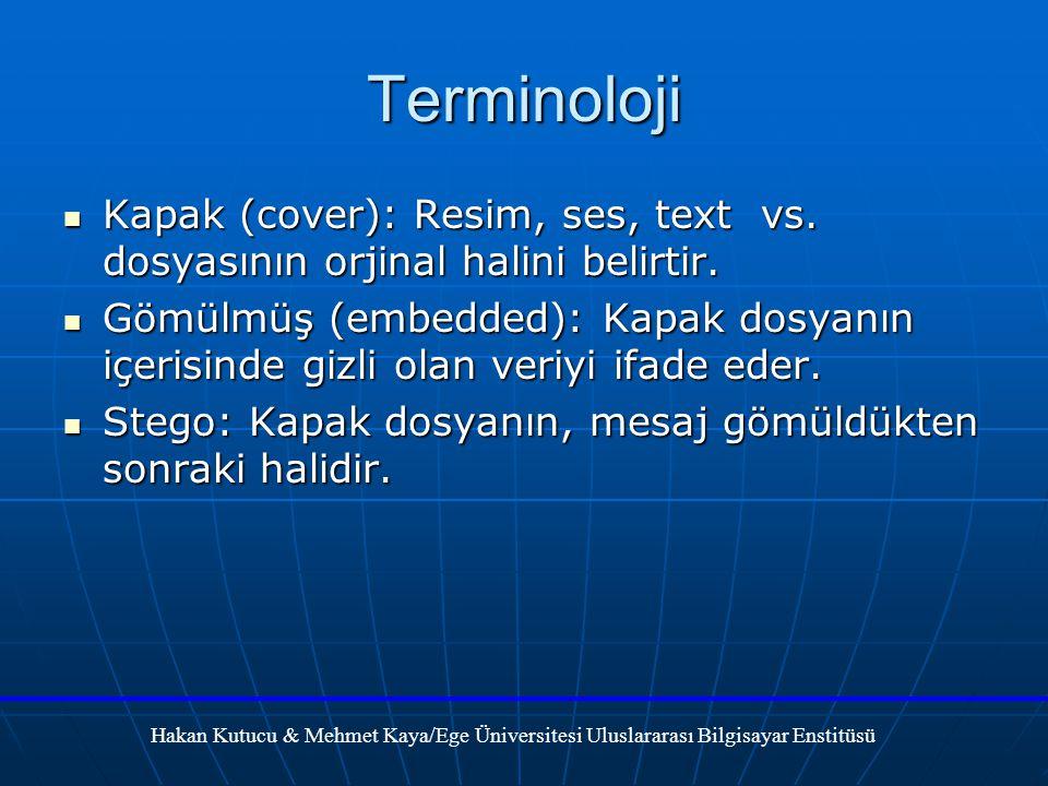 Terminoloji Kapak (cover): Resim, ses, text vs. dosyasının orjinal halini belirtir.