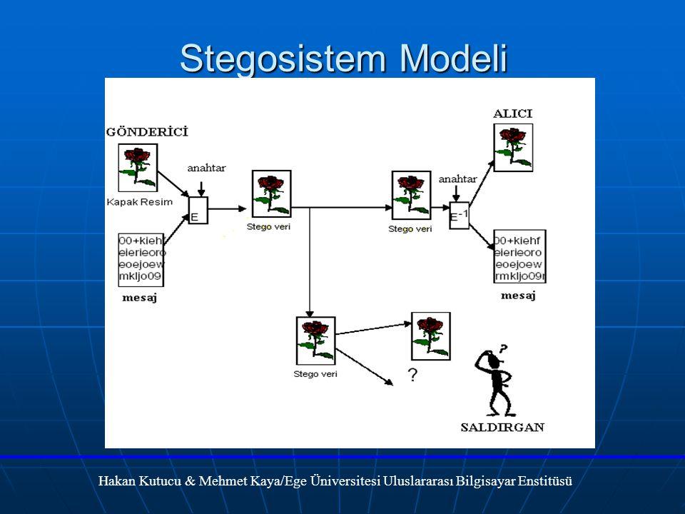Stegosistem Modeli Hakan Kutucu & Mehmet Kaya/Ege Üniversitesi Uluslararası Bilgisayar Enstitüsü