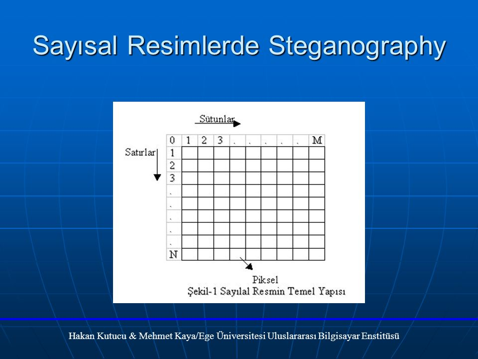 Sayısal Resimlerde Steganography