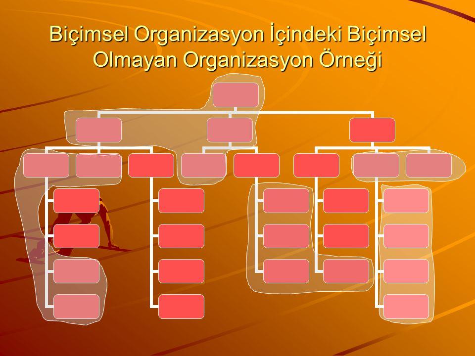 Biçimsel Organizasyon İçindeki Biçimsel Olmayan Organizasyon Örneği