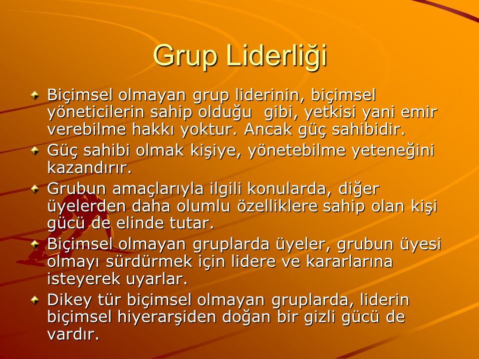 Grup Liderliği