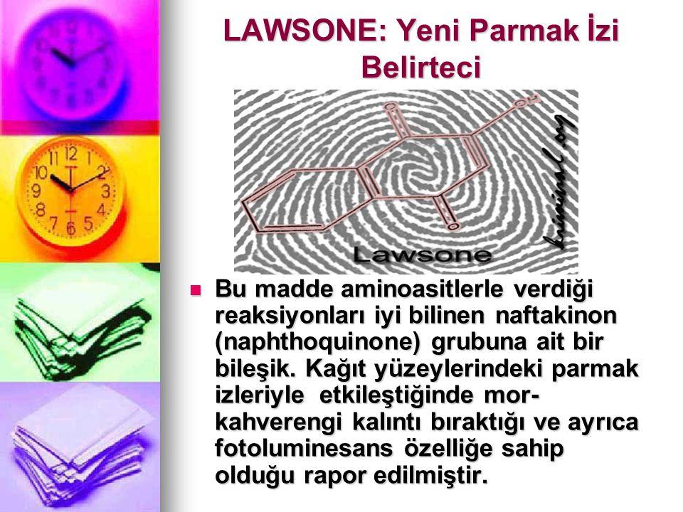 LAWSONE: Yeni Parmak İzi Belirteci