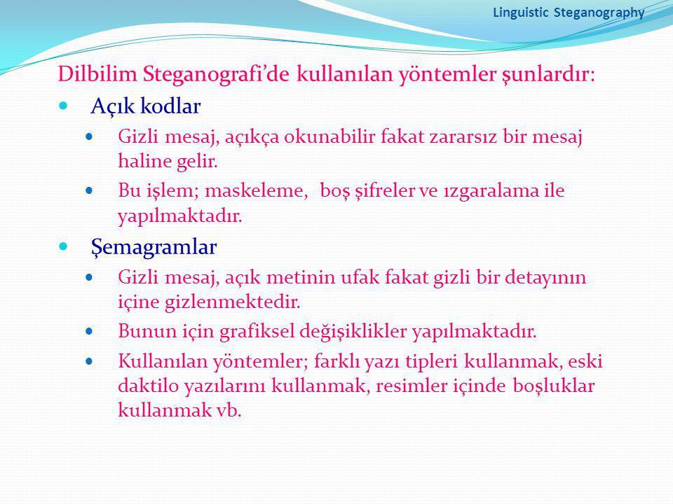 Linguistic Steganography