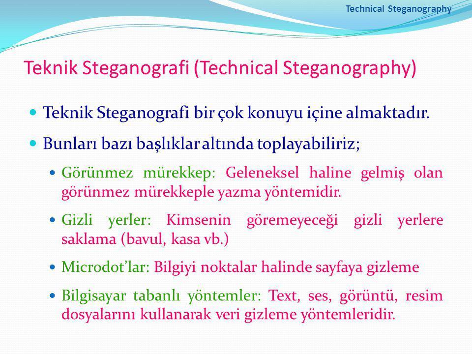 Teknik Steganografi (Technical Steganography)