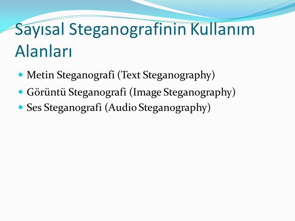 Sayısal Steganografinin Kullanım Alanları