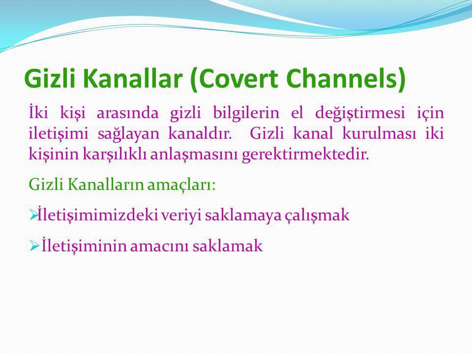 Gizli Kanallar (Covert Channels)