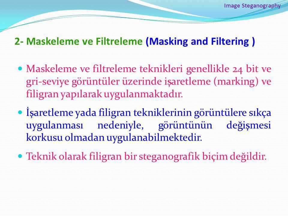 2- Maskeleme ve Filtreleme (Masking and Filtering )