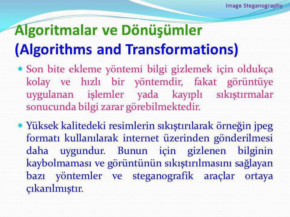 Algoritmalar ve Dönüşümler (Algorithms and Transformations)