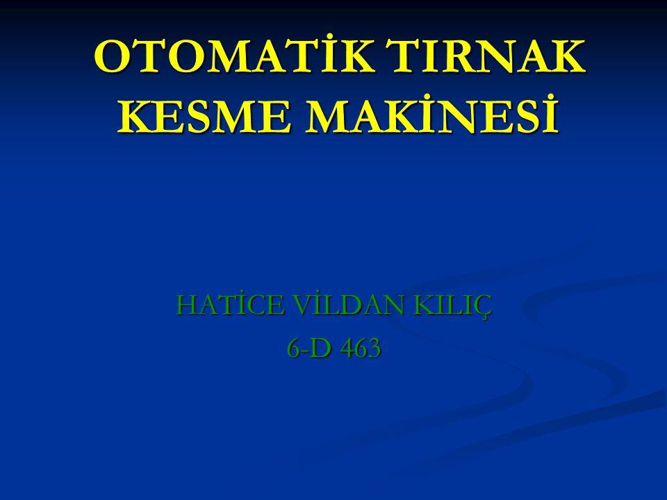 OTOMATİK TIRNAK KESME MAKİNESİ