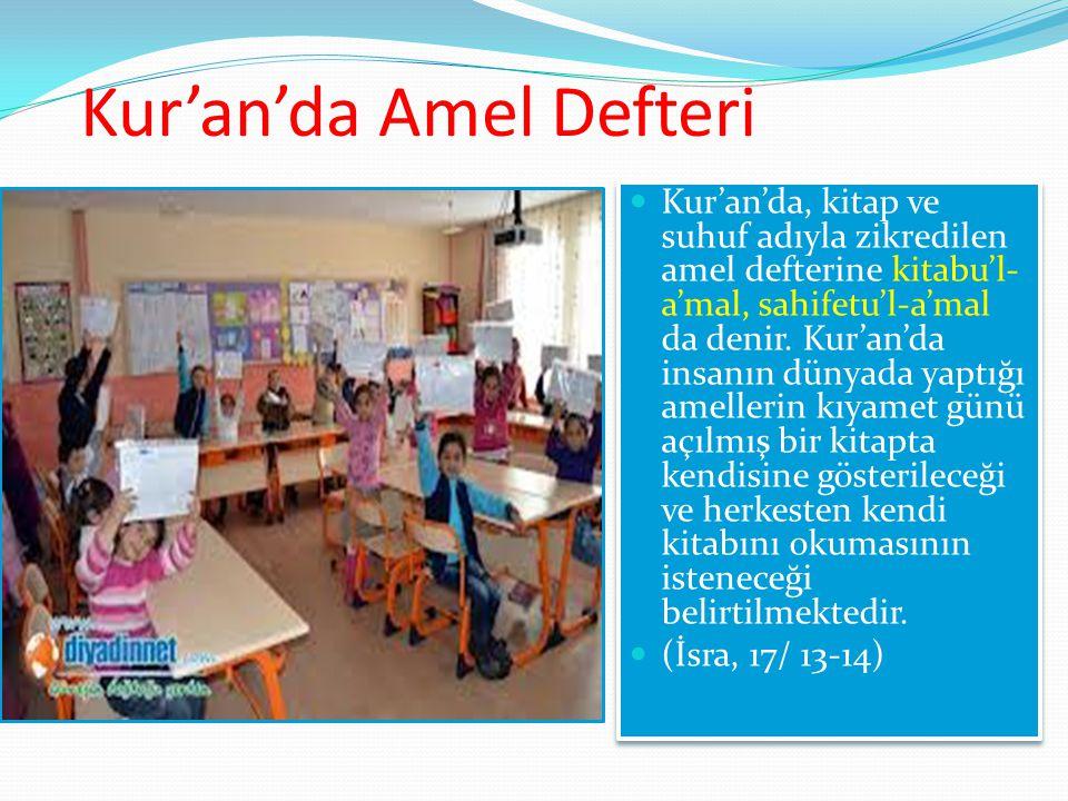Kur'an'da Amel Defteri