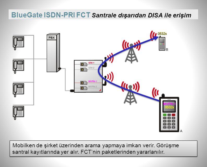 BlueGate ISDN-PRI FCT Santrale dışarıdan DISA ile erişim