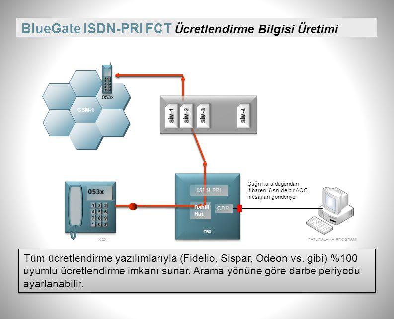 BlueGate ISDN-PRI FCT Ücretlendirme Bilgisi Üretimi
