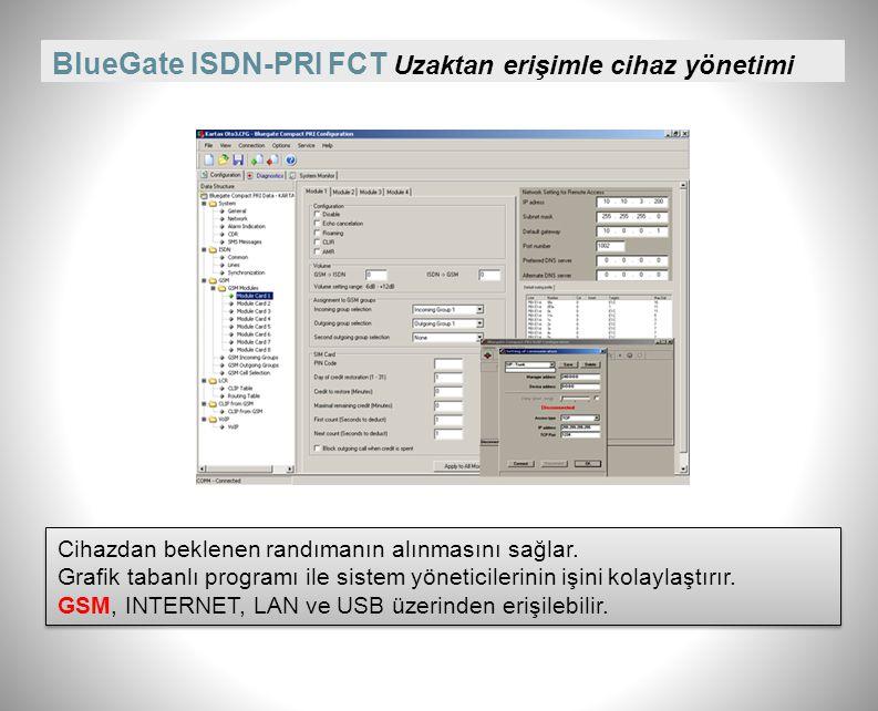 BlueGate ISDN-PRI FCT Uzaktan erişimle cihaz yönetimi