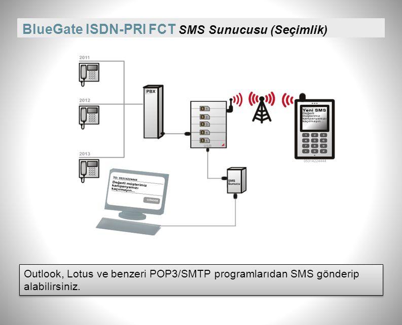BlueGate ISDN-PRI FCT SMS Sunucusu (Seçimlik)