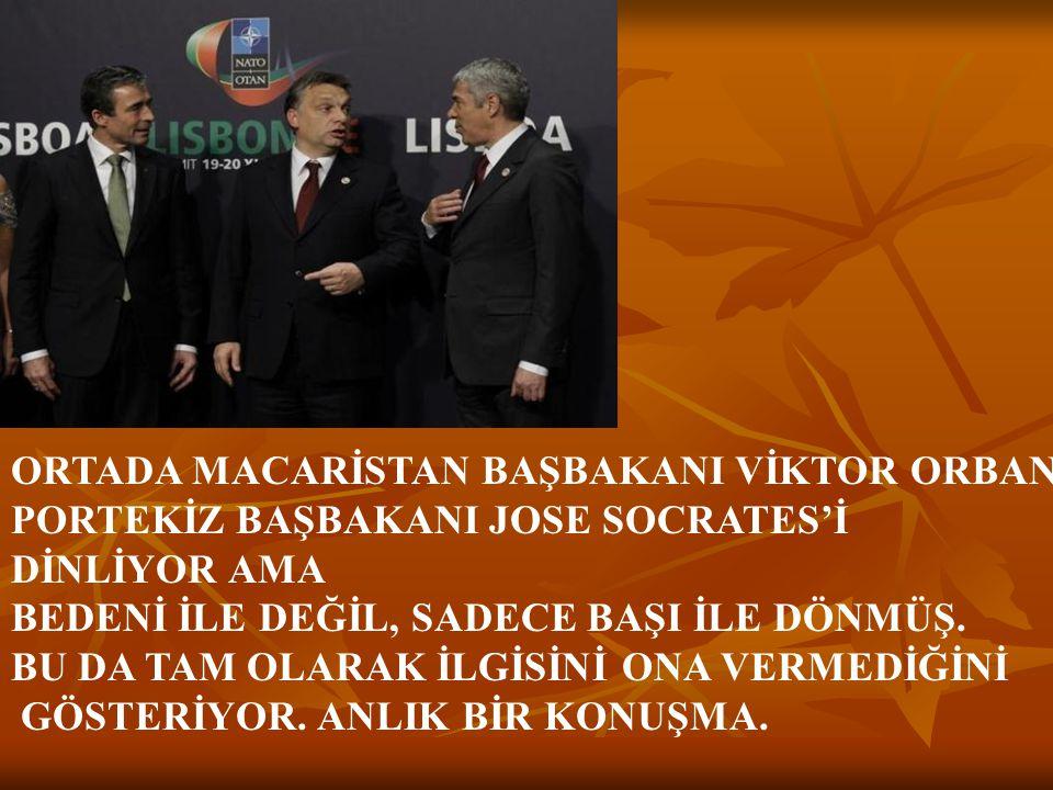 ORTADA MACARİSTAN BAŞBAKANI VİKTOR ORBAN,