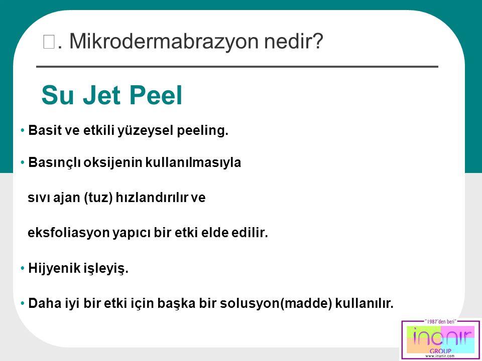 Su Jet Peel Ⅲ. Mikrodermabrazyon nedir